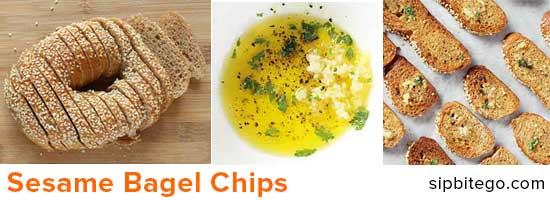 sesame bagel chips recipe image