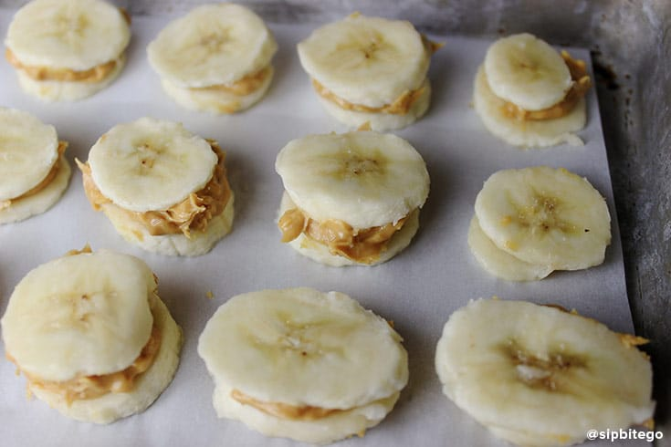 Healthy snacks like these peanut butter and chocolate banana bites are perfect for summer.