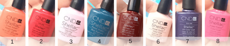 Ready to leave the nail salon behind? Here's my Shellac nail color pallet. https://sipbitego.com/shellac-nail-polish-color-pallet/
