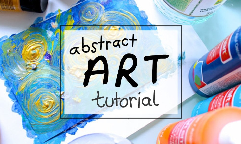 Abstract Art DIY Tutorial for Beginners (with acrylics) | via sipbitego.com