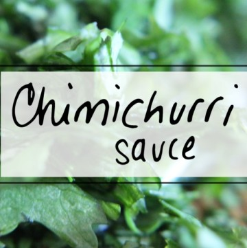Salads, grilled chicken & steak become extraordinary meals with this Easy Chimichurri Sauce with garlic and onion.