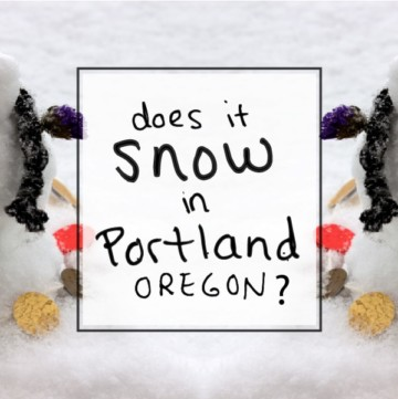 "An answer to the frequently-asked PDX travel question: ""Does is snow in Portland, Oregon?"" + tips to make a DIY mini snowman."