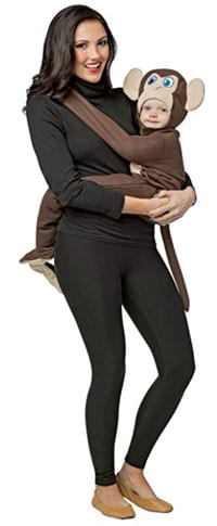 baby matching Halloween costume ideas monkey tree