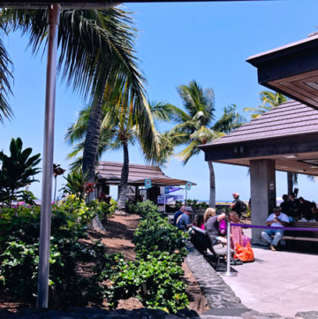 Hawaii Kona Big Island Airport Outdoors boarding the plane on tarmac Traveling between Big Island and Maui
