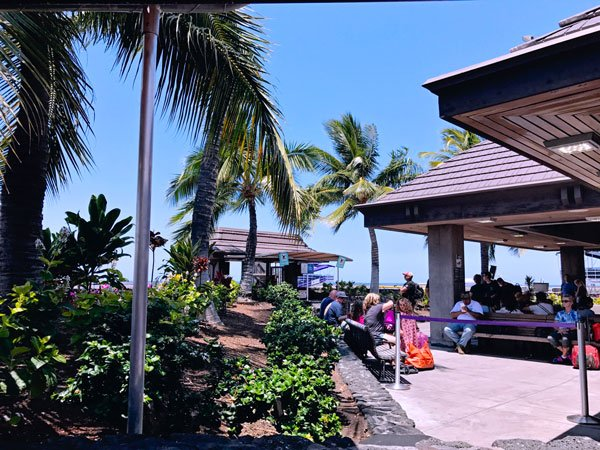 Hawaii Kona Big Island Airport Outdoors boarding the plane on tarmac Traveling between Big Island and Maui