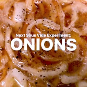 sous vide onions with pepper experiment set up