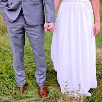 Wedding planning How to balance an uneven bridal party gray groomsmen and bridesmaid outfits.jpeg copy