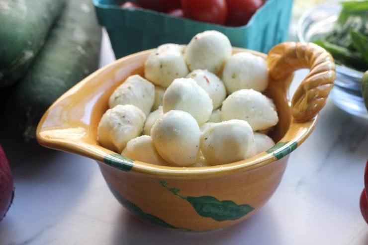 fresh mozzarella balls