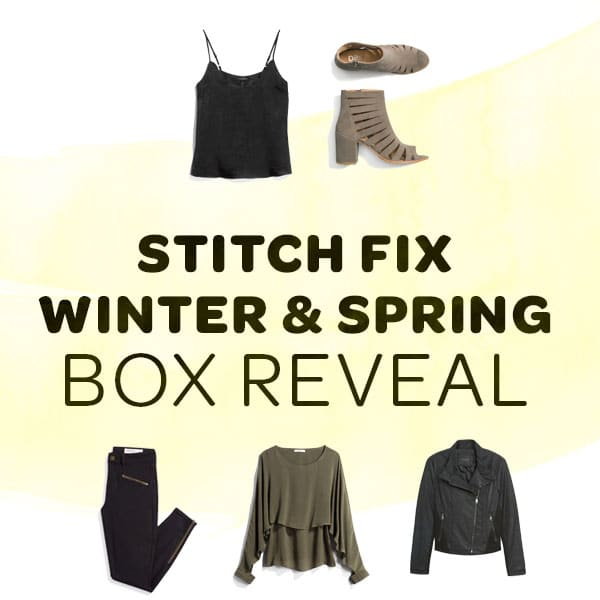 Winter Stitch Fix box opening 2018 spring