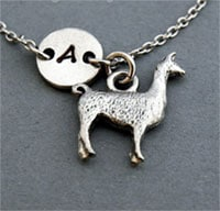 Llama charm bracelet in silver by Etsy shop ShortandBaldJewelry