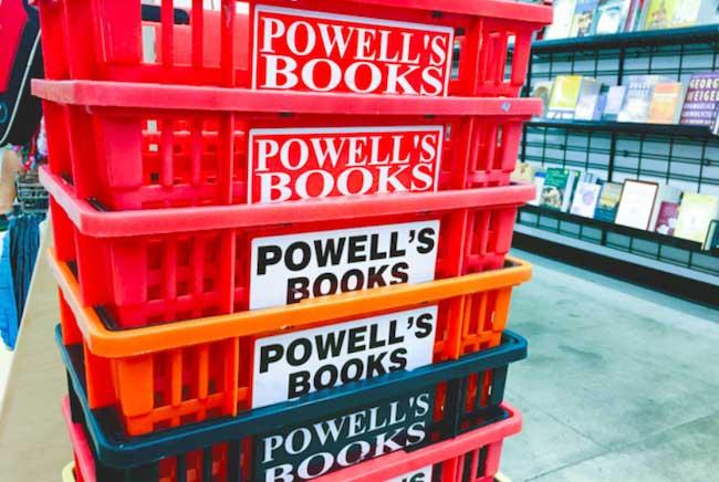 Inside Powell's Books in Portland