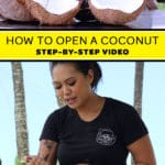 How to open a coconut step by step coconut husking demonstration video