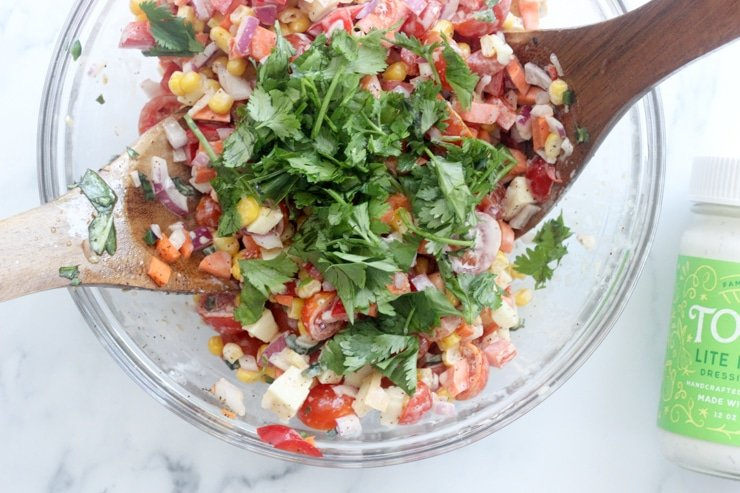 cilantro added to make ahead mexican side dish