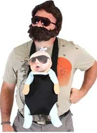 The Hangover Halloween costume set for baby and dad