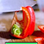 how to cut a bell pepper into strips with a red bell pepper video guide