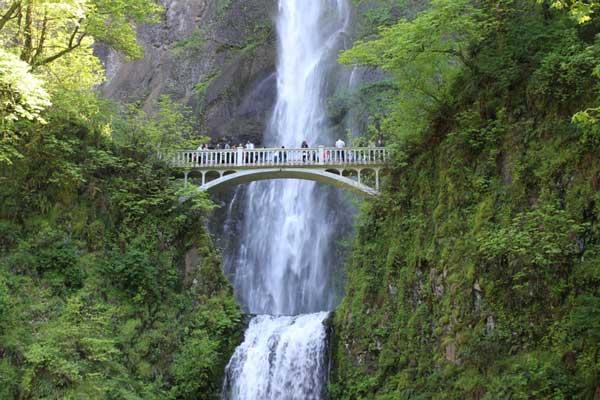 roadtrip in the fall in oregon to multnohmah falls