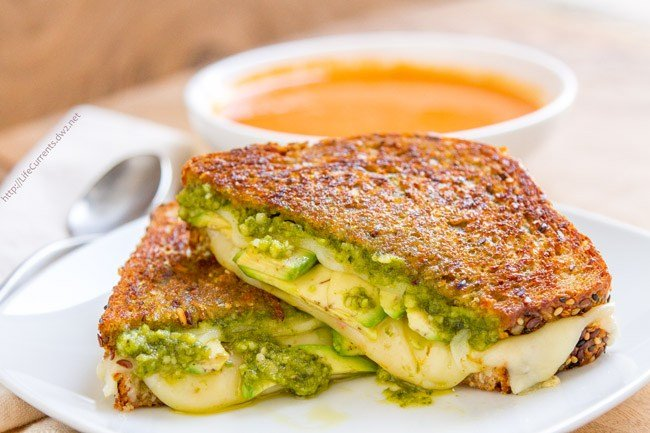 Pesto Grilled Cheese ideas by Life Currents Blog