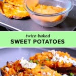 twice baked sweet potatoes progress picture and finished product picture