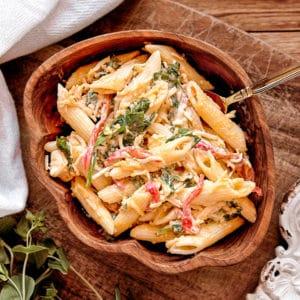 easy main dish recipe of a pasta dinner