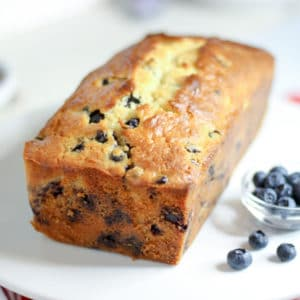 loaf bread with spring blueberries