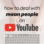 negative youtube comments with woman online typing
