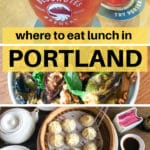 pictures of dishes from various Portland restaurants