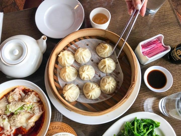 Order of duck House soup dumplings in PDX