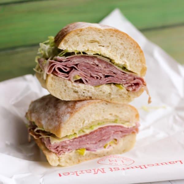 Laurelhearst Market turkey lunch sandwich in PDX