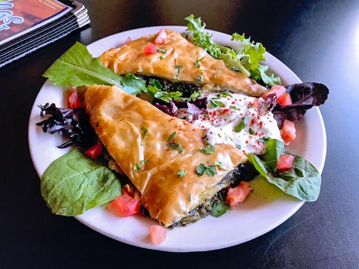 Spanakopita appetizer at Nicholas Restaurant