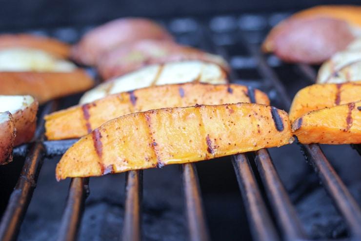 grilling sweet potatoes