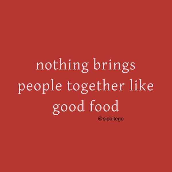 quote about food and people
