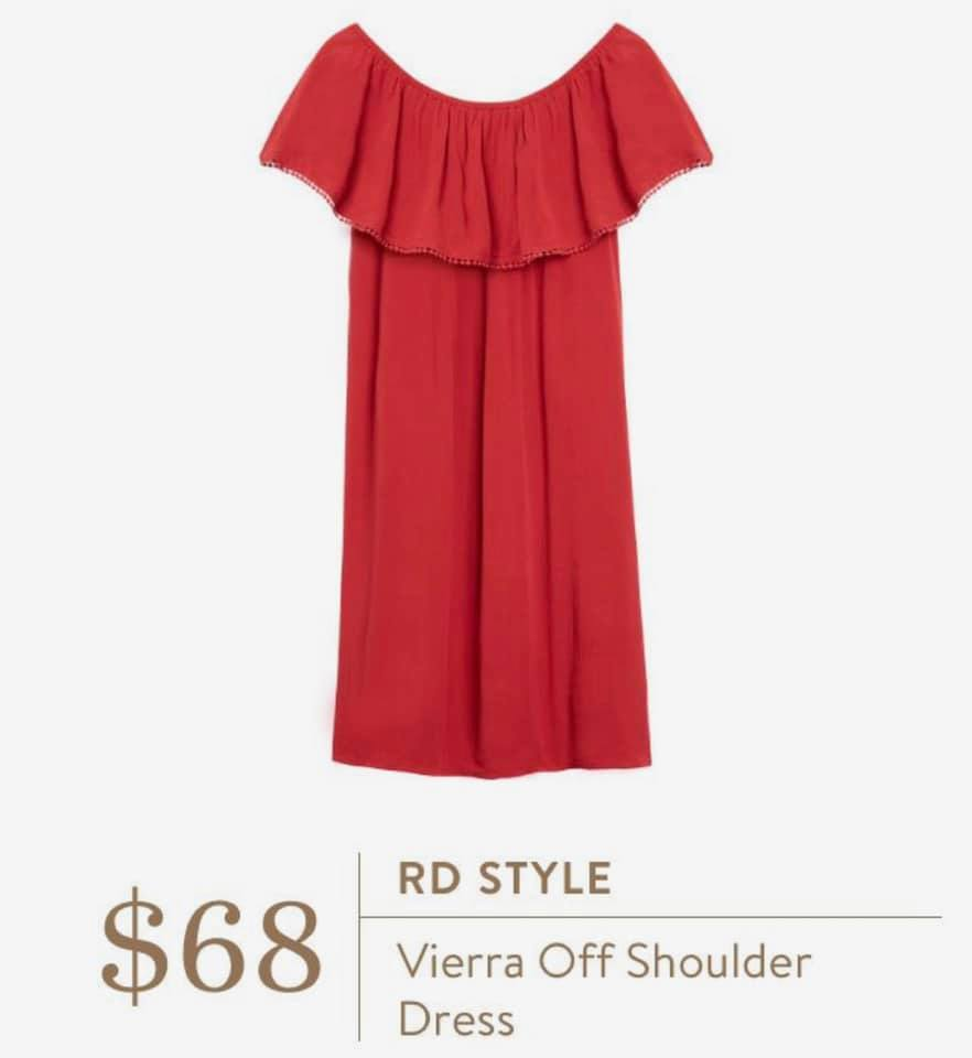 Summer Stitch Fix Outfits Review RD Style Red Vierra Dress
