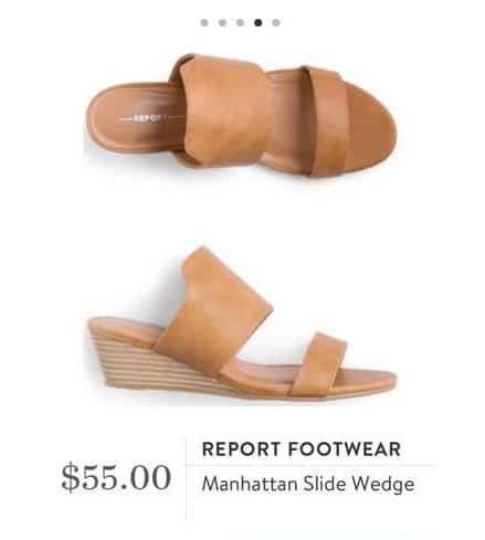 Summer Stitch Fix Shoes by Report Footwear Manhattan Style Wedge beige heel
