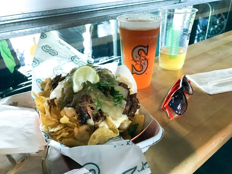 t mobile park food concessions from Edgars Cantina on the club level nachos