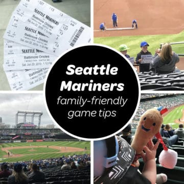 Seattle mariners t mobile park picture collage with kids and a baby