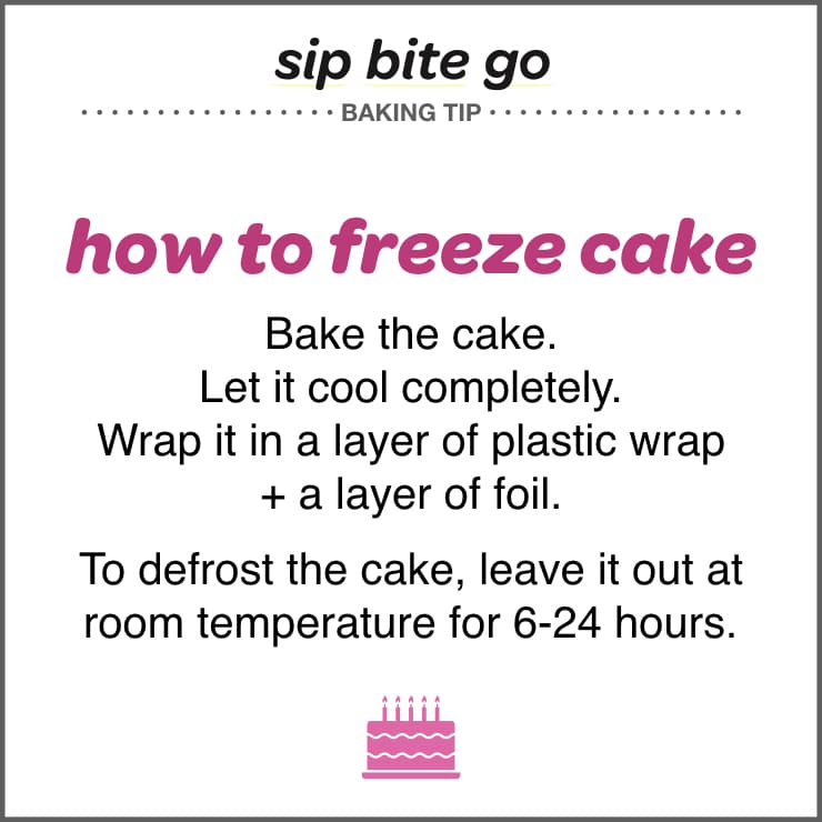 how to freeze cake tips