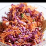 red cabbage and carrot salad pin