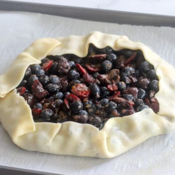 Mixed Berry Galette with raw store bought pie dough