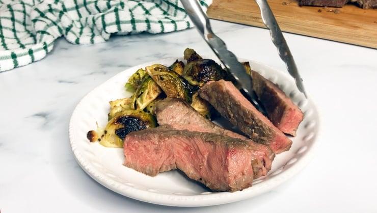 sous vide t bone steak on a plate