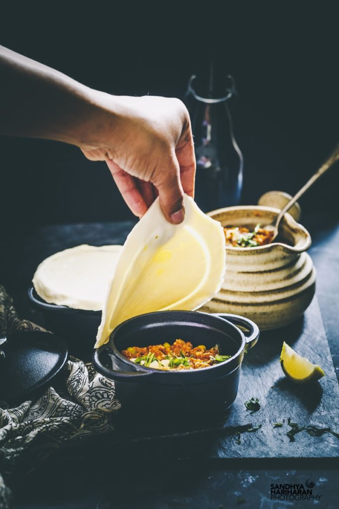 indian puff pastry recipe idea in a small crock