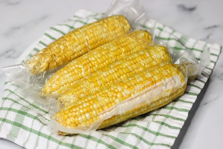 butter poached sous vide corn on the cob
