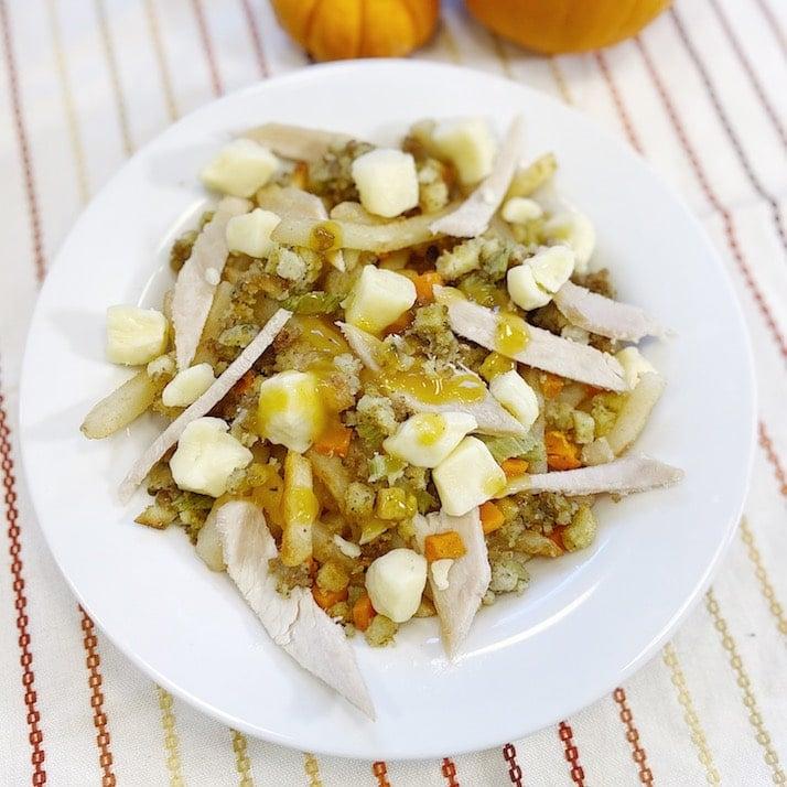 Thanksgiving poutine recipe with leftover turkey