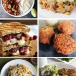 grid of turkey leftover recipe pictures
