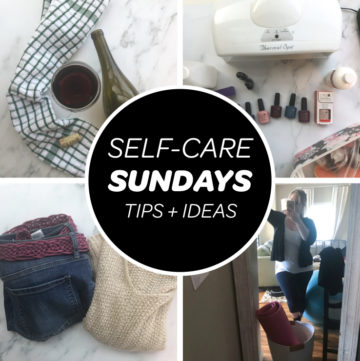 collage list of ideas for self care sundays feature