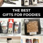 grid of photos of gift ideas for foodies