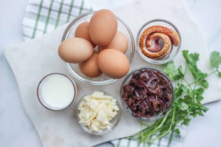 ingredients to make sous vide egg bites