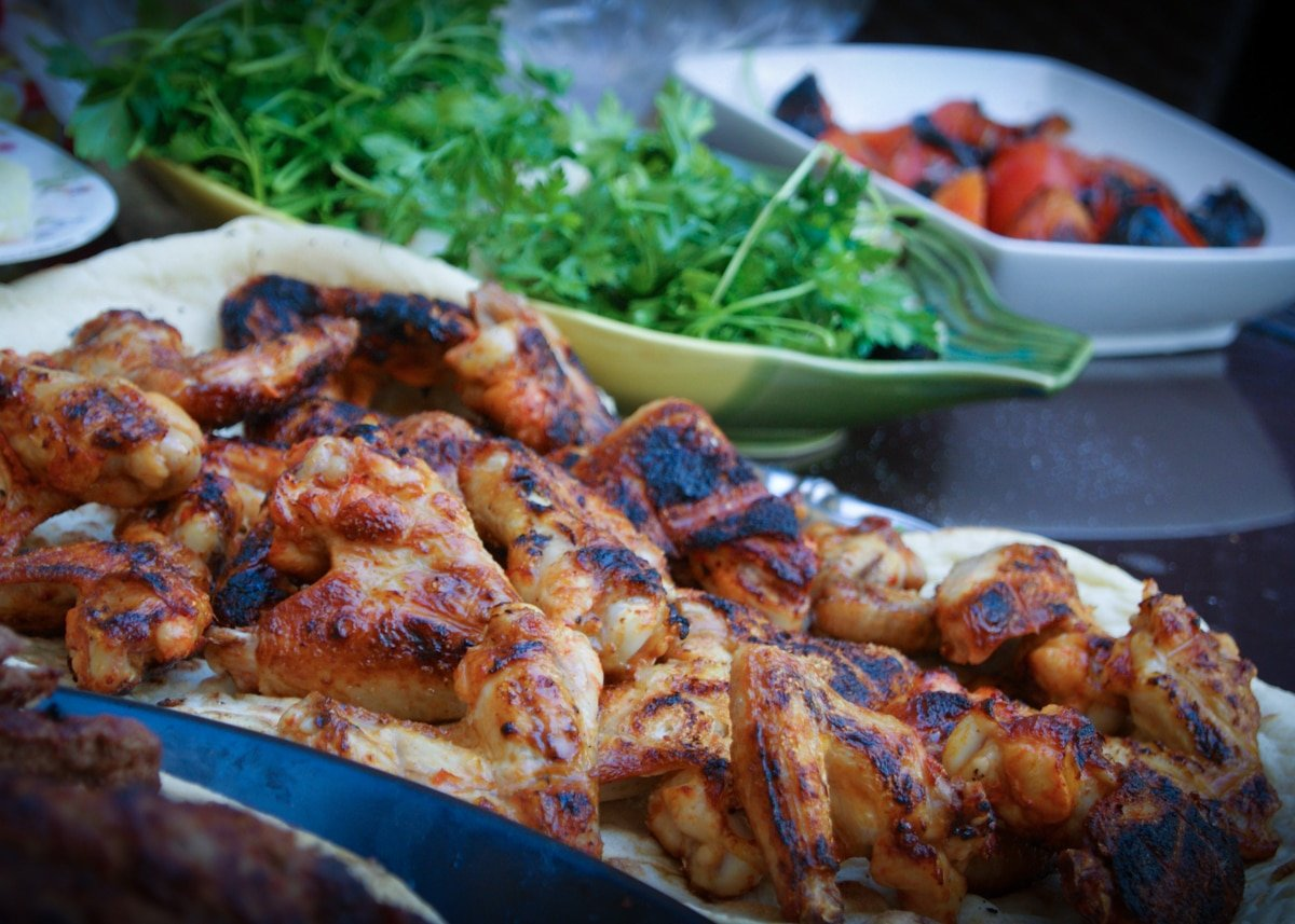 sous vide then grilled chicken