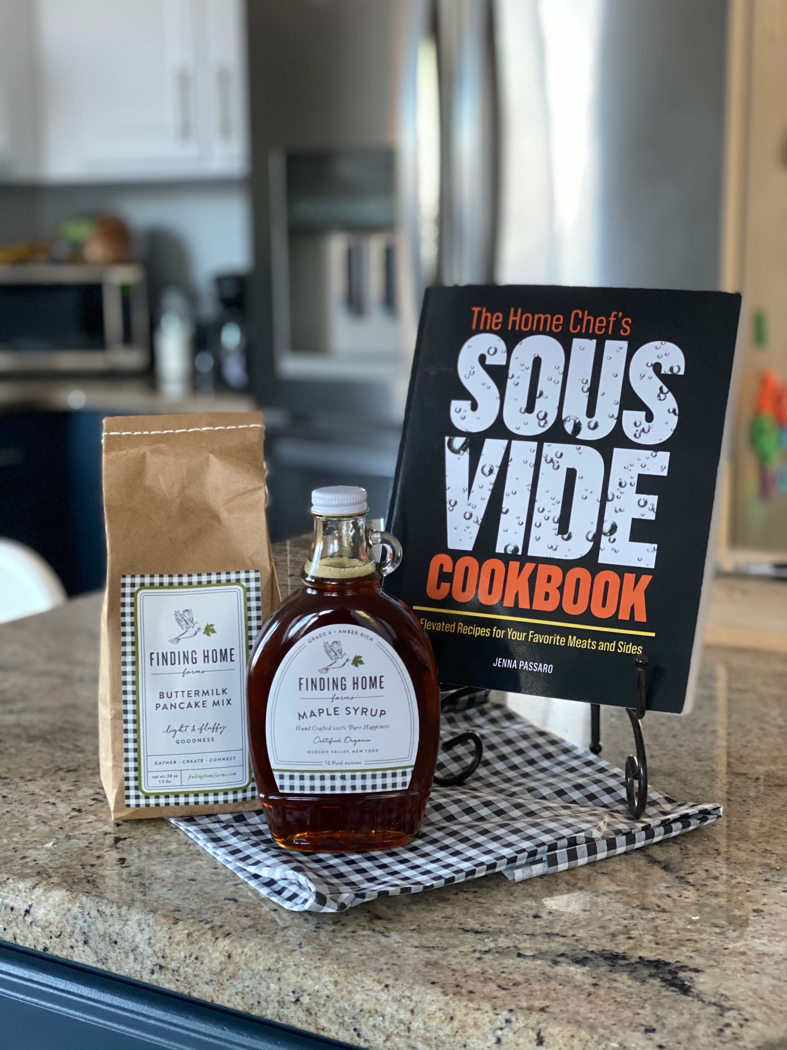 finding home farms syrup and waffle mix and the home chef's sous vide cookbook giveaway