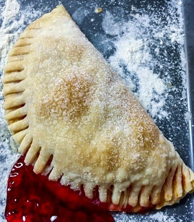 baked cherry pie turnovers