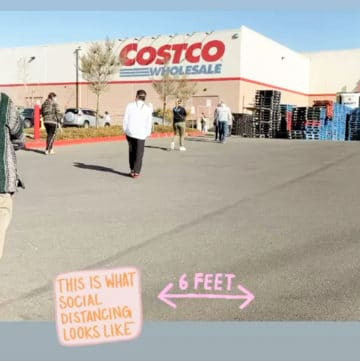 costco line for grocery shopping during quarantine